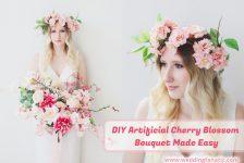 DIY Artificial Cherry Blossom Bouquet Made Easy
